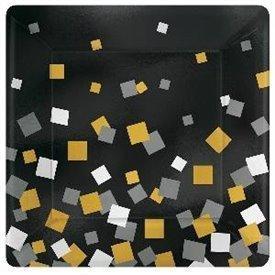 Platos Confetti Sparkling 18cm (8)541641 Amscan