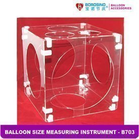 Caja medidora de globos de plastico