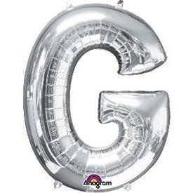 Globo Letra G Mini de Color Plata (40 cm Aprox)3302301 Anagram