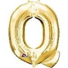 Globo Letra Q Mini de Color Oro (40 cm Aprox)3304501 Anagram