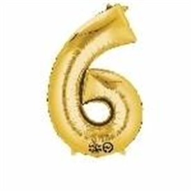 Globo Numero Nº6 Color Oro (33 cm Aprox, Empaquetado)3308711 Anagram