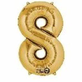 Globo Numero Nº8 Color Oro (33 cm Aprox, Empaquetado)3309111 Anagram