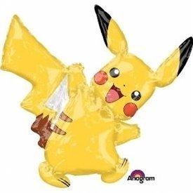 Globo pokemon Pikachu Foil Palito sin inflar
