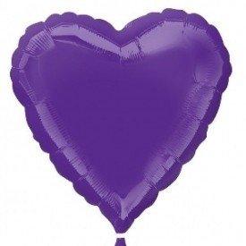 Globo Con Forma de Corazón de Aprox 45cm Color QUARTZ PRUPLE2245902 Anagram