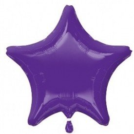 Globo Con Forma de Estrella de Aprox 47cm Color QUARTZ PRUPLE2248002 Anagram