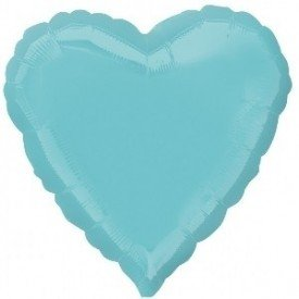 Globo Con Forma de Corazón de Aprox 45cm Color ROBIN EGG BLUE (BP)2301502 Anagram