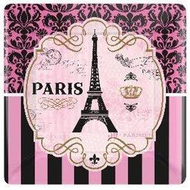 "Platos ""Un dia en Paris"" de 26 cm (8)591729 Amscan"