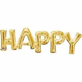 Globo frase HAPPY oro3375501 Anagram