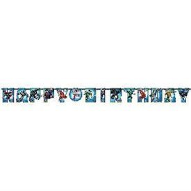 Guirnalda Liga de la Justicia Happy Birthday Personalizable121585 Amscan
