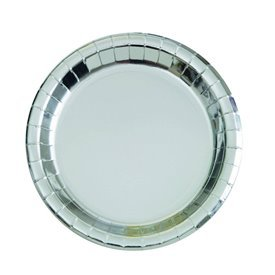 Platos Plata Brillo de 23 cm (8)