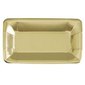 Platos Oro brillo Aperitivo (8)UN-51685 Unique