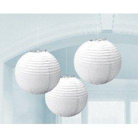 Linternas Colgantes Color Blanco (3 de 20,4 cm)24055-08 Amscan