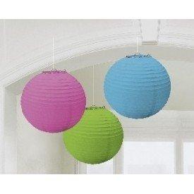 Linternas Colgantes Color Multicolor (3 de 20,4 cm)24055-90 Amscan