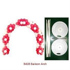 Arco de globos con bases de plastico