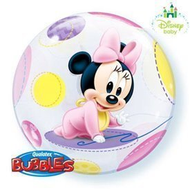 Globo Baby Minnie Burbuja BubbleQL-16430 Qualatex
