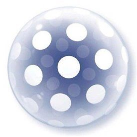 Globo Puntos Blancos Burbuja BubbleQL-16872 Qualatex