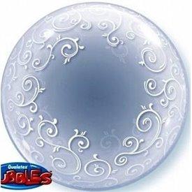 Globo Filigranas Blancas Burbuja Bubble