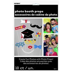 Accesorios Photocall Graduacion Divertidos (10)UN-62711 Unique