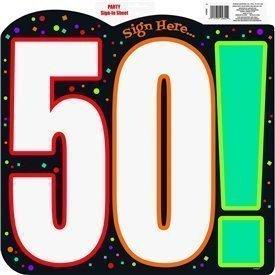 Cartel 50 Cumpleaños de Cartón