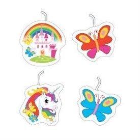 Velas Unicornio Mini Formas (4)9902109 Amscan
