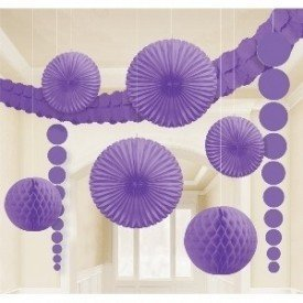 Kit Decoracion Color Morado243568-106-55 Amscan