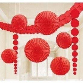 Kit Decoracion Color Rojo243568-40-55 Amscan
