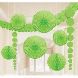 Kit Decoracion Color Verde243568-53-55 Amscan