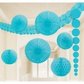 Kit Decoracion Color Azul Caribe243568-54-55 Amscan