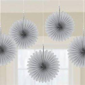 Farolillos Abanico color Plata (5 de 15,2 cm)29055-18-55 Amscan