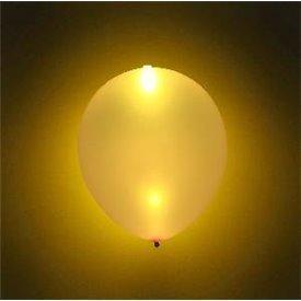 Globos Látex con luz Led Oro Metalizado (5)