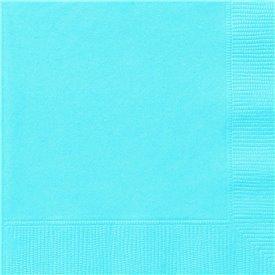 Servilletas pequeñas color azul bebe (20)