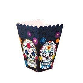 Cajitas Calaveras Mexicanas Rectangulares (12) Dia de los Muertos