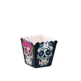 Cajitas Calaveras Mexicanas Cuadradas (12) Dia de los Muertos12400301 Verbetena