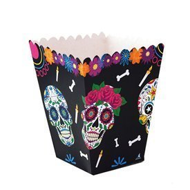 Cajitas Calaveras Mexicanas Grandes (12) dia de los muertos