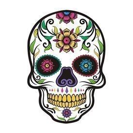 Figura Super Silueta Calavera Mexicana Dia de los Muertos