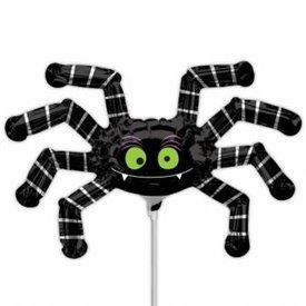 Globo Araña peluda palito sin inflar