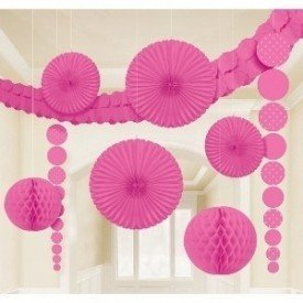 Kit Decoracion Damasco Color Fucsia249257 Amscan
