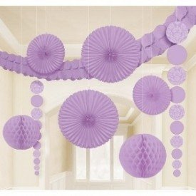 Kit Decoracion Damasco Color Lila249258 Amscan