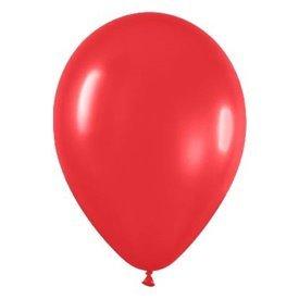 Globos de 22,5 cm aprox Color Rojo Solido (50 ud)