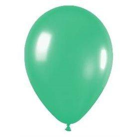 Globos de 22,5 cm aprox Color Verde Solido (50 ud)