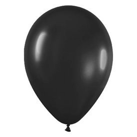 Globos de 22,5 cm aprox Color Negro Solido (50 ud)