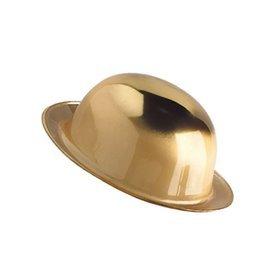 Bombin plastico metalizado Dorado