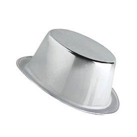 Chistera plastico metalizado Plateado