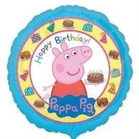 Globo Peppa Pig Happy Birthday 45cm3159201 Anagram