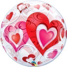 Globo Corazones Burbuja Bubble 56cmQL-33909 Qualatex