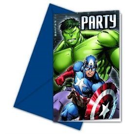 Invitaciones Los Vengadores Heroes (6)84653 Procos