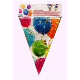 Banderin Triangulos Globos de Colores
