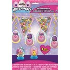 Kit decoracion Hatchimals (7piezas)UN-59309 Unique