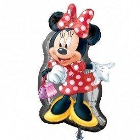 Globo Foil Forma Minnie 48x81 cm aprox. ( Empaquetado)