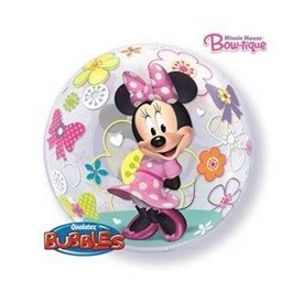 Globo Minnie Rosa Burbuja Bubble de 56cmQL-41065 Qualatex